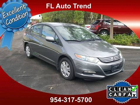 2010 Honda Insight For Sale At Florida Auto Trend In Plantation FL
