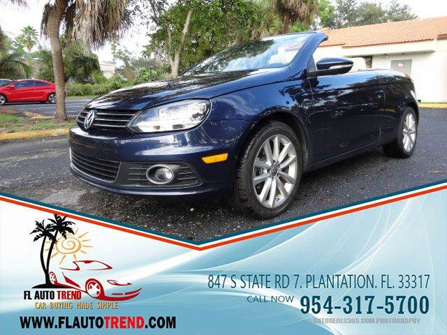2012 Volkswagen Eos for sale at Florida Auto Trend in Plantation FL