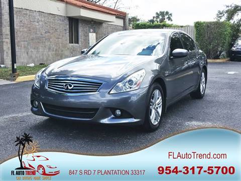 2011 Infiniti G25 Sedan for sale in Plantation, FL