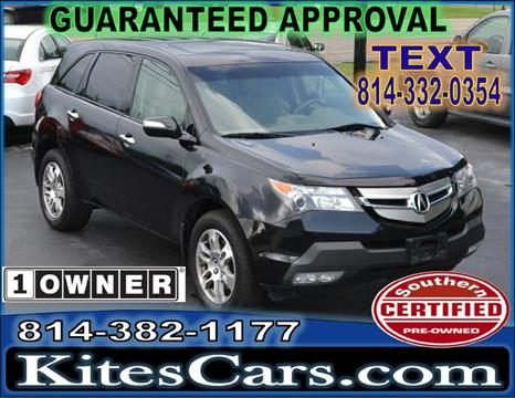 2007 Acura MDX for sale at Kightlinger Auto Sales, Inc in Meadville PA