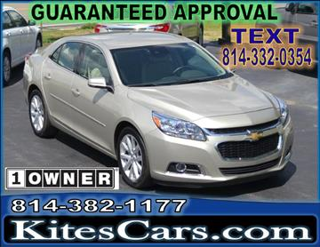 2015 Chevrolet Malibu for sale at Kightlinger Auto Sales, Inc in Meadville PA