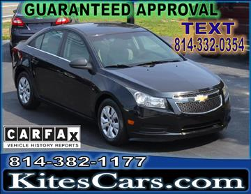 2011 Chevrolet Cruze for sale at Kightlinger Auto Sales, Inc in Meadville PA