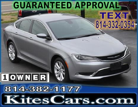 2015 Chrysler 200 for sale at Kightlinger Auto Sales, Inc in Meadville PA