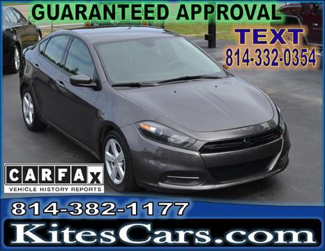 2016 Dodge Dart for sale at Kightlinger Auto Sales, Inc in Meadville PA