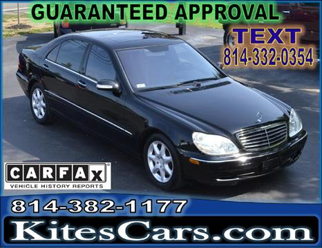 2004 Mercedes-Benz S-Class for sale at Kightlinger Auto Sales, Inc in Meadville PA