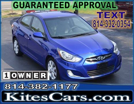 2012 Hyundai Accent for sale at Kightlinger Auto Sales, Inc in Meadville PA