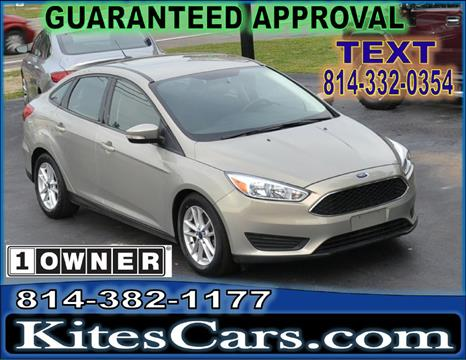 2015 Ford Focus for sale at Kightlinger Auto Sales, Inc in Meadville PA