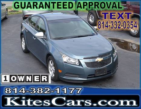 2012 Chevrolet Cruze for sale at Kightlinger Auto Sales, Inc in Meadville PA