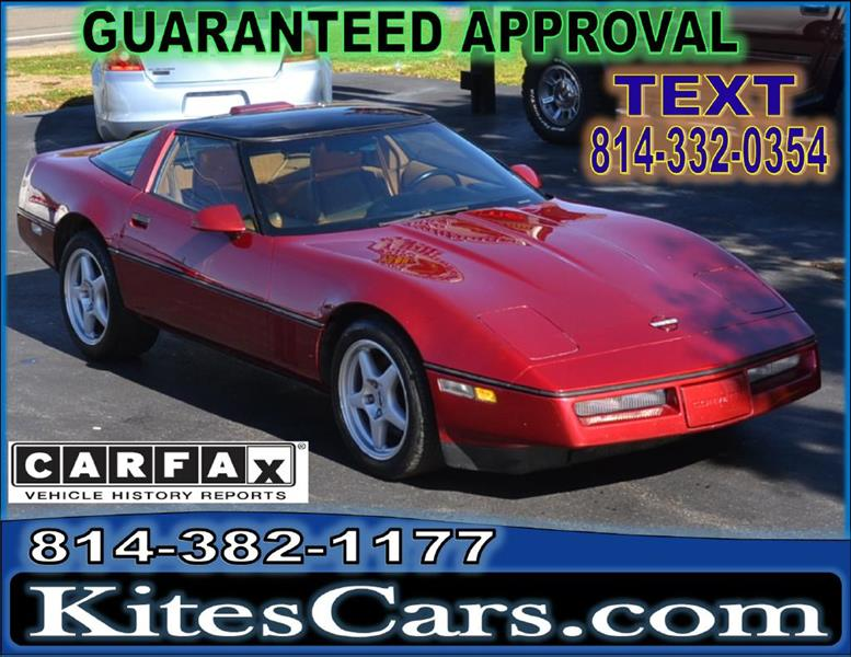 1990 Chevrolet Corvette for sale at Kightlinger Auto Sales, Inc in Meadville PA