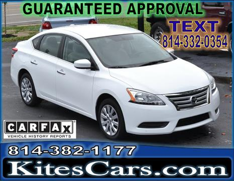 2015 Nissan Sentra for sale at Kightlinger Auto Sales, Inc in Meadville PA