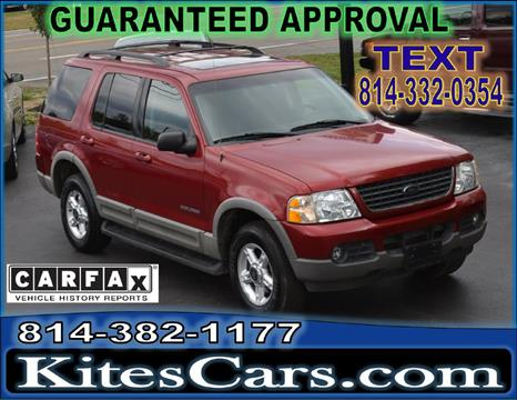 2002 Ford Explorer for sale at Kightlinger Auto Sales, Inc in Meadville PA