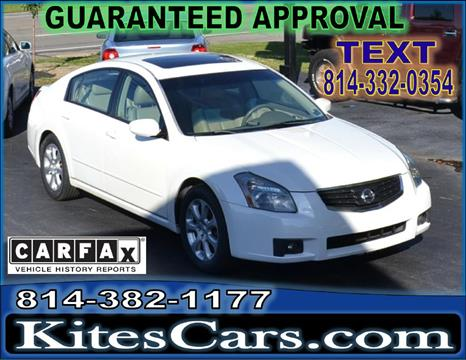 2008 Nissan Maxima for sale at Kightlinger Auto Sales, Inc in Meadville PA