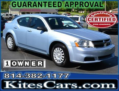 2013 Dodge Avenger for sale at Kightlinger Auto Sales, Inc in Meadville PA
