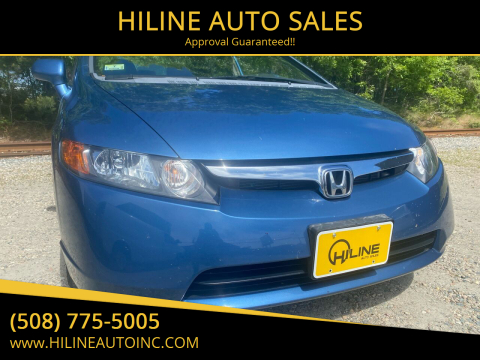 2008 Honda Civic for sale at HILINE AUTO SALES in Hyannis MA