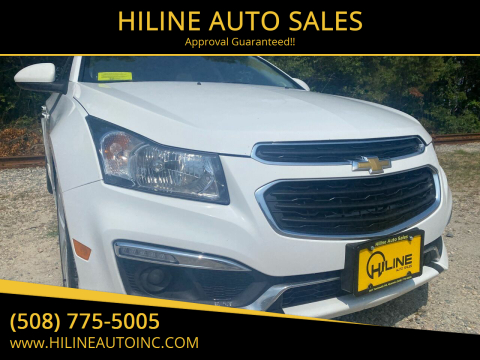 2015 Chevrolet Cruze for sale at HILINE AUTO SALES in Hyannis MA