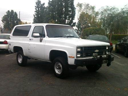 1987 Chevrolet Blazer for sale at Wild Rose Motors Ltd. in Anaheim CA
