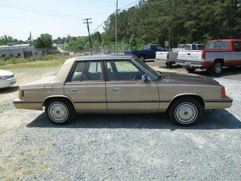 1984 Dodge Aries K for sale at Wright's Auto Sales in Lancaster SC