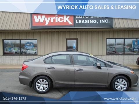 2012 Honda Civic for sale at Wyrick Auto Sales & Leasing-Zeeland in Zeeland MI