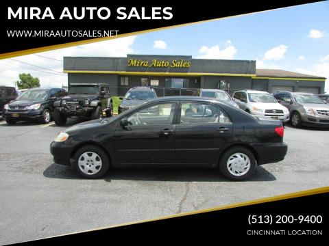 2003 Toyota Corolla for sale at MIRA AUTO SALES in Cincinnati OH