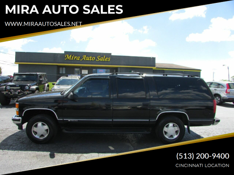 1999 Chevrolet Suburban for sale at MIRA AUTO SALES in Cincinnati OH