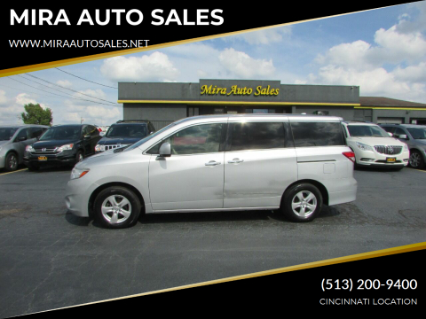 2014 Nissan Quest for sale at MIRA AUTO SALES in Cincinnati OH