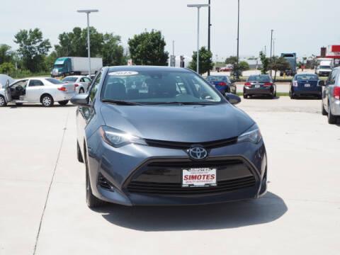 2018 Toyota Corolla for sale at SIMOTES MOTORS in Minooka IL
