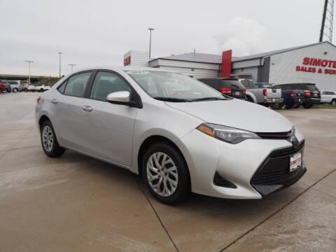 2017 Toyota Corolla for sale at SIMOTES MOTORS in Minooka IL