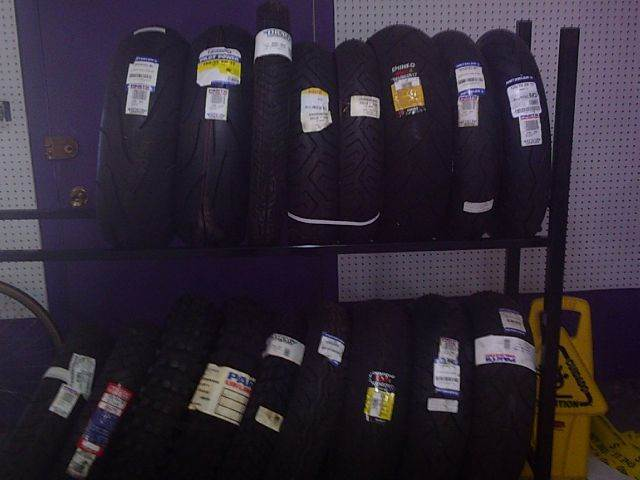 TIRES of all makes for sale at Cycle M in Machesney Park IL