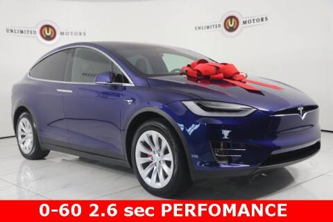 2019 Tesla Model X for sale at INDY'S UNLIMITED MOTORS - UNLIMITED MOTORS in Westfield IN