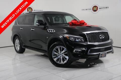 2017 Infiniti QX80 for sale at INDY'S UNLIMITED MOTORS - UNLIMITED MOTORS in Westfield IN
