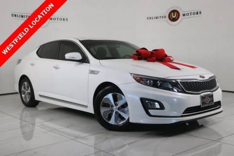 2015 Kia Optima Hybrid for sale at INDY'S UNLIMITED MOTORS - UNLIMITED MOTORS in Westfield IN