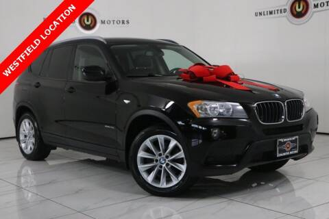 2013 BMW X3 for sale at INDY'S UNLIMITED MOTORS - UNLIMITED MOTORS in Westfield IN