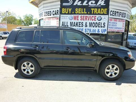 2005 Toyota Highlander for sale at Shick Automotive Inc in North Hills CA