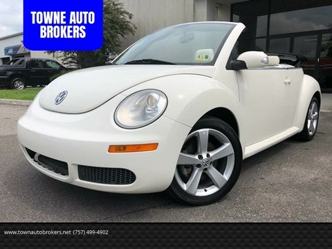 2007 Volkswagen New Beetle for sale at TOWNE AUTO BROKERS in Virginia Beach VA