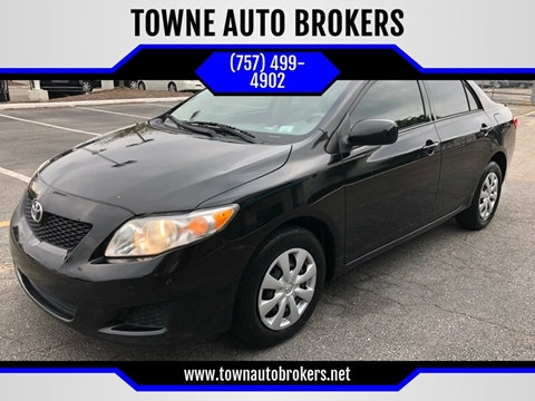 2010 Toyota Corolla for sale at TOWNE AUTO BROKERS in Virginia Beach VA