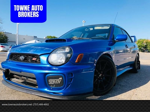 2002 Subaru Impreza for sale at TOWNE AUTO BROKERS in Virginia Beach VA