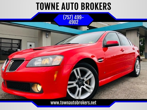 2008 Pontiac G8 for sale at TOWNE AUTO BROKERS in Virginia Beach VA