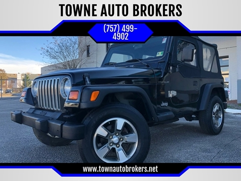 1999 Jeep Wrangler for sale at TOWNE AUTO BROKERS in Virginia Beach VA