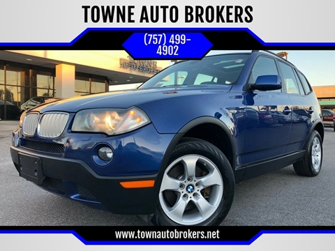 2008 BMW X3 for sale at TOWNE AUTO BROKERS in Virginia Beach VA