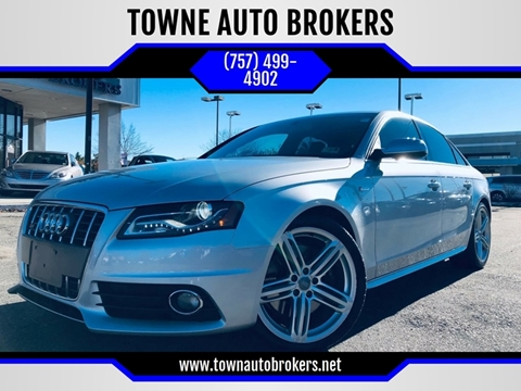 2012 Audi S4 for sale at TOWNE AUTO BROKERS in Virginia Beach VA