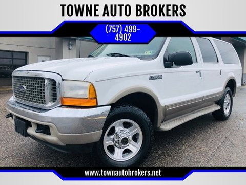 2000 Ford Excursion for sale at TOWNE AUTO BROKERS in Virginia Beach VA