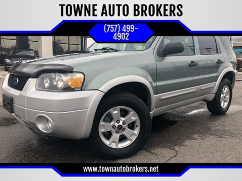 2007 Ford Escape for sale at TOWNE AUTO BROKERS in Virginia Beach VA