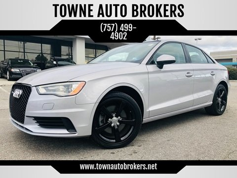 2015 Audi A3 for sale at TOWNE AUTO BROKERS in Virginia Beach VA