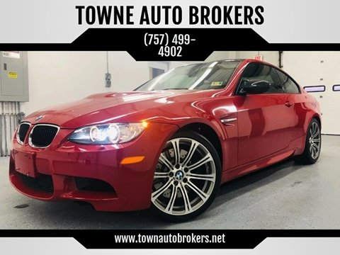 2013 BMW M3 for sale at TOWNE AUTO BROKERS in Virginia Beach VA