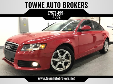 2009 Audi A4 for sale at TOWNE AUTO BROKERS in Virginia Beach VA