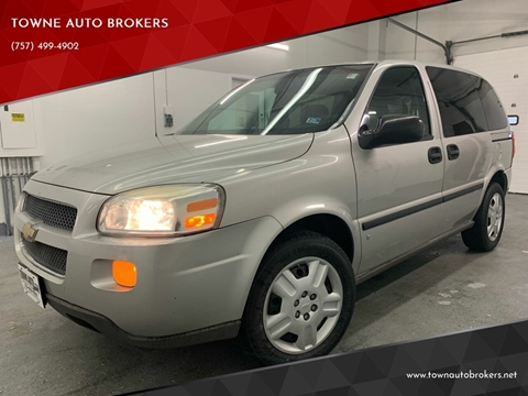 2008 Chevrolet Uplander for sale at TOWNE AUTO BROKERS in Virginia Beach VA