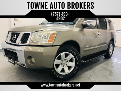 2006 Nissan Armada for sale at TOWNE AUTO BROKERS in Virginia Beach VA