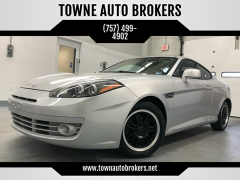 2008 Hyundai Tiburon for sale at TOWNE AUTO BROKERS in Virginia Beach VA