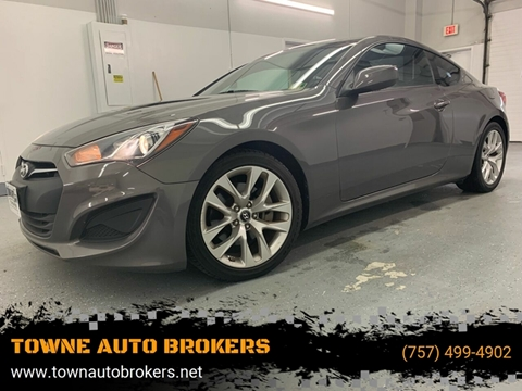 2013 Hyundai Genesis Coupe for sale at TOWNE AUTO BROKERS in Virginia Beach VA