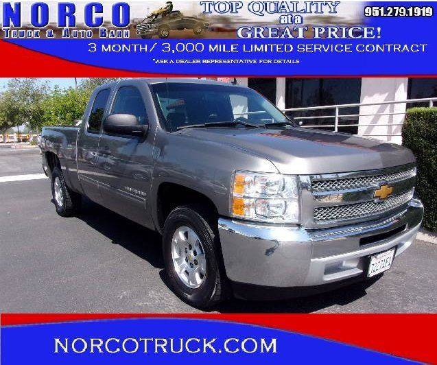 2012 Chevrolet Silverado 1500 4x2 LT 4dr Extended Cab 6.5 ft. SB - Norco CA